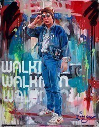 Marty McFly. by Zinsky -  sized 25x32 inches. Available from Whitewall Galleries